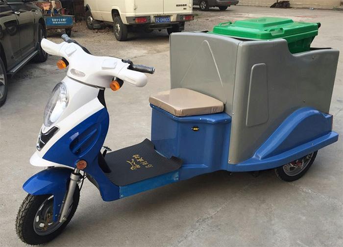 小编介绍一下,圣倍诺环保公司推出的电动快速 保洁车.