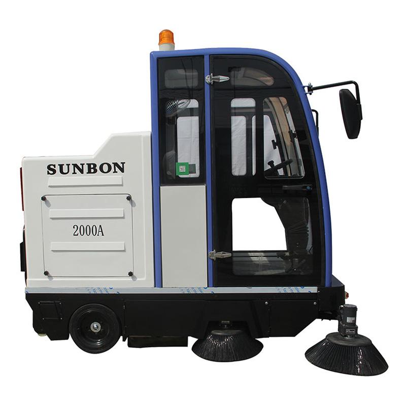 沐鸣2官方注册电动吸尘扫地车清扫路面 一辆车可以代替10个人