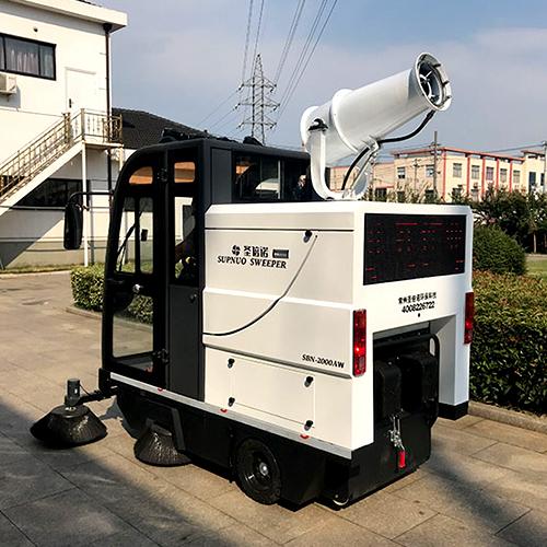沐鸣2官方注册全封闭电动驾驶扫地车让清洁工告别传统又繁重的清扫工作