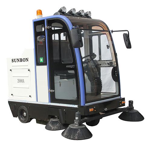 沐鸣2官方注册产业园使用电动封闭式扫地车的优点